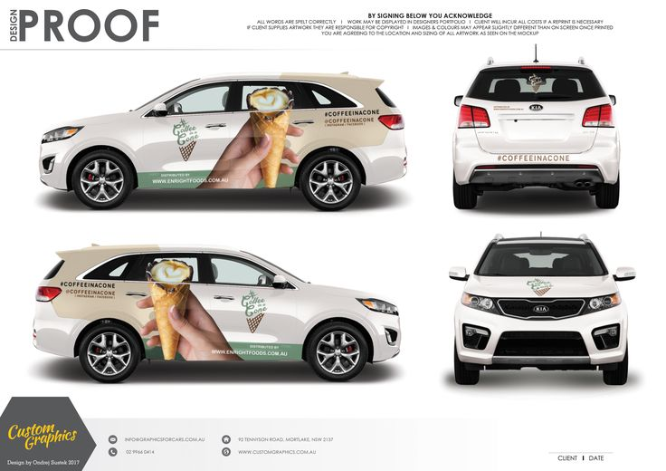 Coffee in a cone sounds pretty crazy, but crazy is exactly what can be done with custom vehicle signage. Display your business, no matter how outside the box it is, to everyone with a vehicle graphic wrap