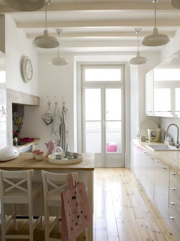 .Lights, The Doors, Kitchens Design, Floors, Organic Ideas, Tables Tops Decor, Bathroom Ideas, Country Kitchens, White Kitchens
