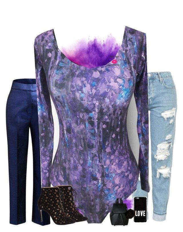 """bodysuit by lolitaglam"" by lolita-glam on Polyvore featuring moda, Topshop, Ginger & Smart, Bionda Castana, Givenchy, IMoshion, lolitaglam, modaparallevar y hechoenvenezuela"