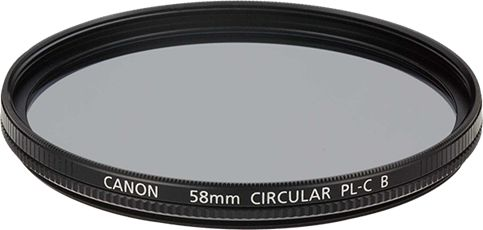 Circular Polarizing Filter 58PL-CB PL-C B polarizing filters to help reduce reflections from glass or water or darken blue skies. The PL-C B's, available in 52mm, 58mm, 67mm, 72mm, 77mm and 82mm filter thread sizes, still allows the lens cap to be attached to the lens to prevent damage to the filter if left attached when not in use.