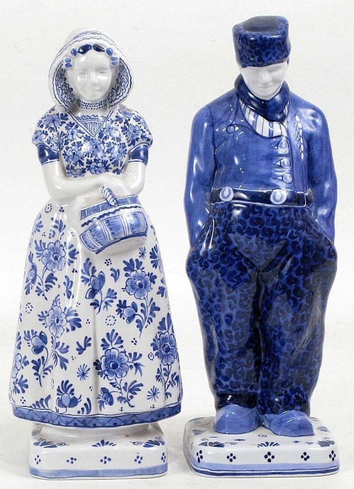 ♥ ~ ♥ Blue and White ♥ ~ ♥ Fles porceleyne Royal Delft blue dutch figurines