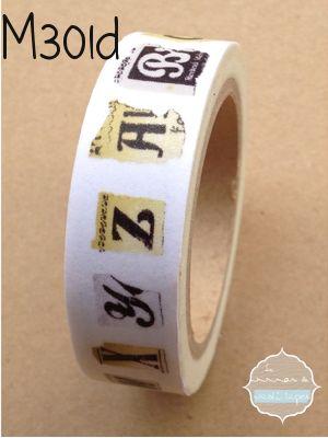 Washi Tape Alfabeto variado
