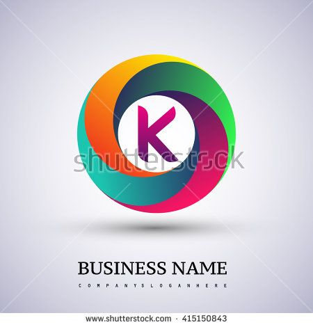 K letter colorful logo in the circle. Vector design template elements for your application or company identity. - stock vector