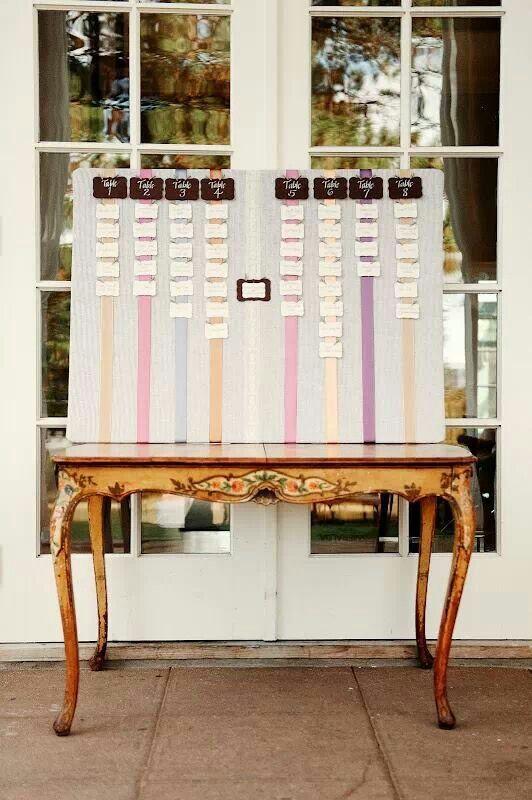 Cork board seating chart