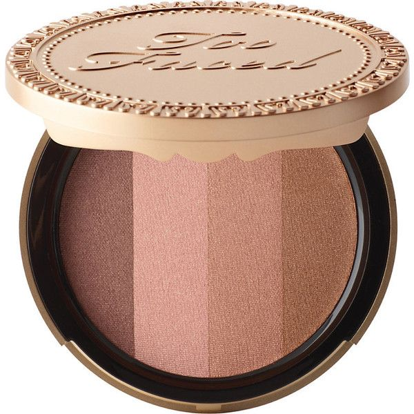 Too Faced Beach bunny bronzer featuring polyvore, beauty products, makeup, cheek makeup, cheek bronzer and too faced cosmetics