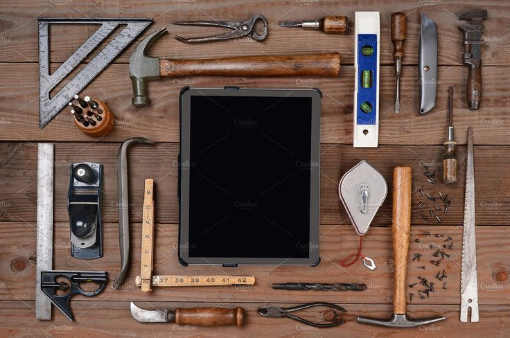 Tools and Tablet Computer - Industrial - 1