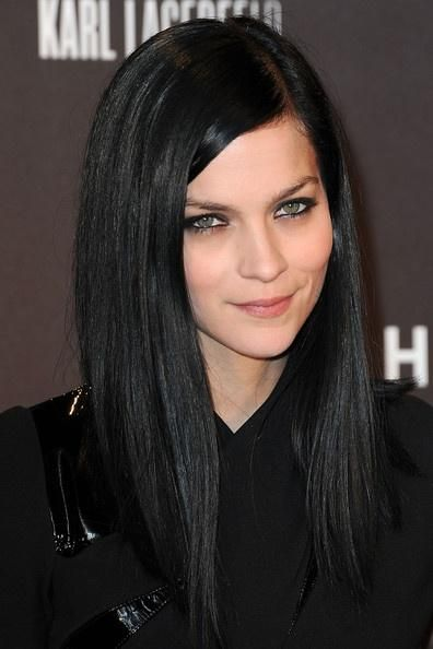 how to make black hair look good on pale skin