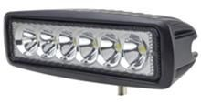 """""""R2D2"""" Work, Spot, Flood Light LED 18W  Operating Voltage: 10-30V DC  Waterproof rating: IP 67  6*3w high intensity Epsitar LEDs  Luminous Flux 1260lm  Optional Color: Black & White  Color Temperature: 6500K  Material: Die cast aluminum housing  Lens material: PMMA  Mounting Bracket: Stainless Steel  Optional Beam: 60 or 30 degree  Expected Life 30000+ hours  Certificates: CE RoHs"""