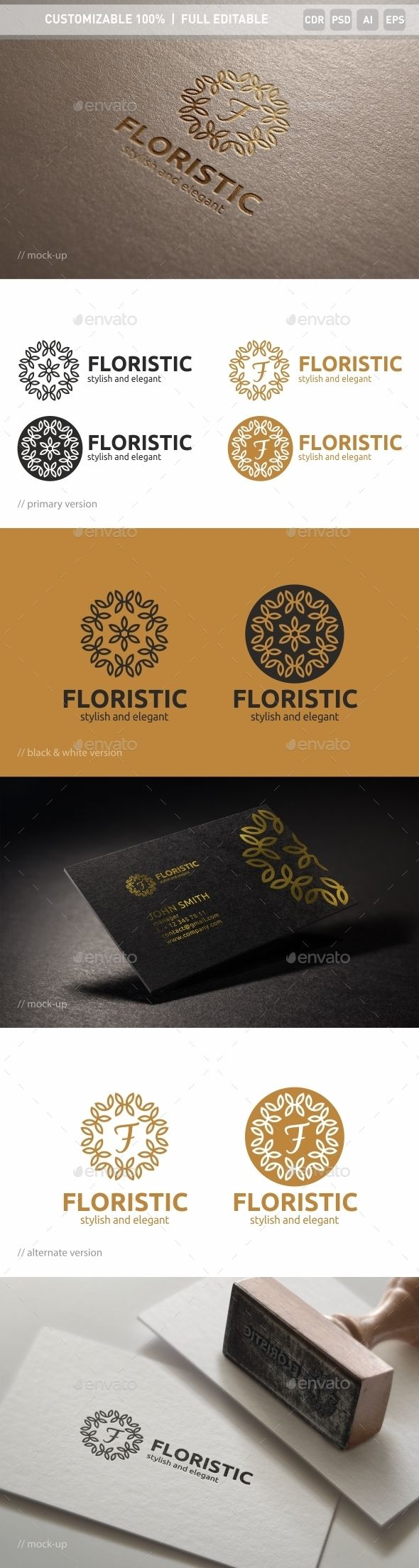 Floristic Logo Template #design #logotype Download: http://graphicriver.net/item/floristic-logo-template/13742191?ref=ksioks