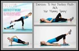 diastasis recti exercises after pregnancy - Google Search