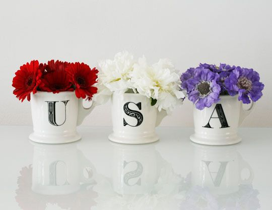 America!: Crafts Ideas, Cute Ideas, Flowers Pots, July Crafts, Awesome Ideas, 4Th Of July, Holidays Decor, July Flowers, Red White
