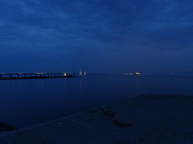 Malmö Camping - Vue du pont vers Copenhague et le Danemark
