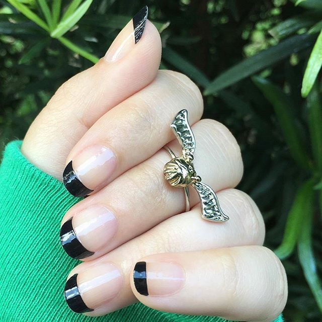 "Favorites from our @incocoproducts French Manicure selection are now @walmart stores nationwide and online at walmart.com! Blogger @demisiriusly shows off ""Midnight Tips,"" a black French nail look with a clear overlay ❤ #incoco #frenchmanicure #frenchtips #blacknailart #nailwrap #alternativefrench"