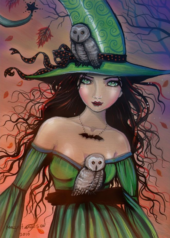 Image result for halloween witches and owls