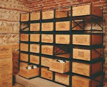 Étagère caisse de vin | caisse de vin tiroirs | wine case furniture
