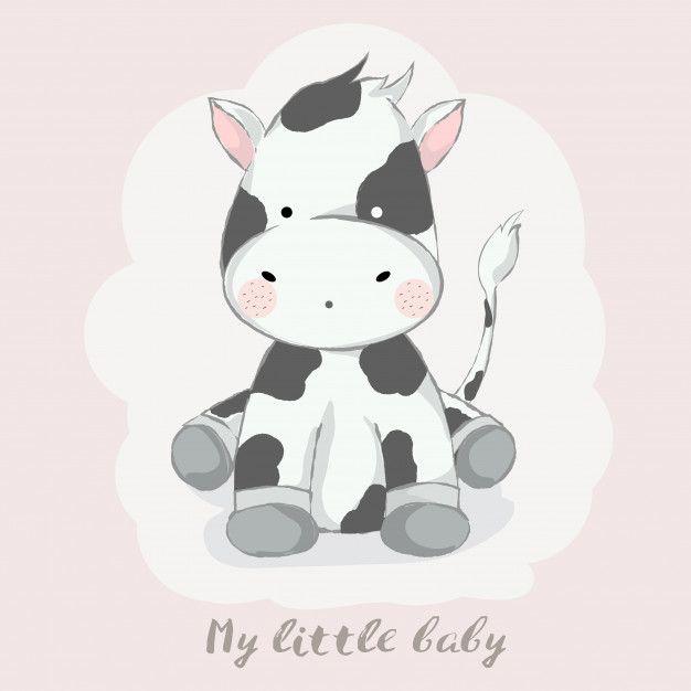 Cute Baby Cow Cartoon Hand Drawn Style Baby Animal Drawings Cute Baby Cow Cow Cartoon Drawing