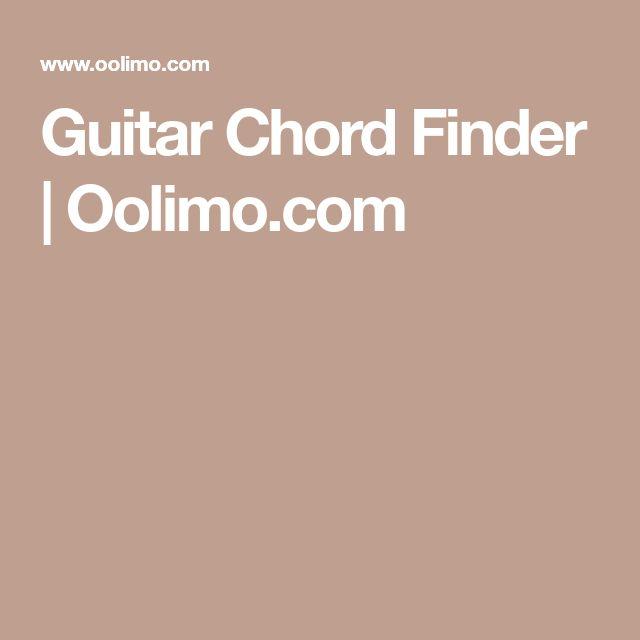 Guitar Chord Finder | Oolimo.com