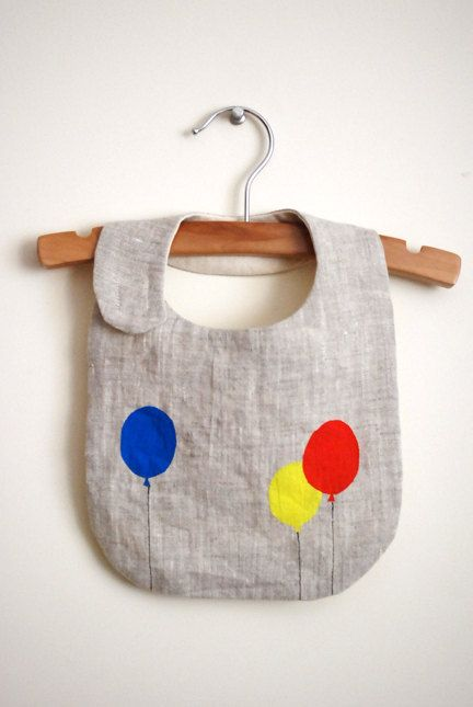 Balloons bib. Can use fabric paint instead of Applique