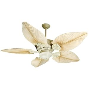 Living Room - Craftmade CPV52AWD/B556TPA7 Pavilion Large Fan (52'' and Larger) Ceiling Fan - Antique Distressed White