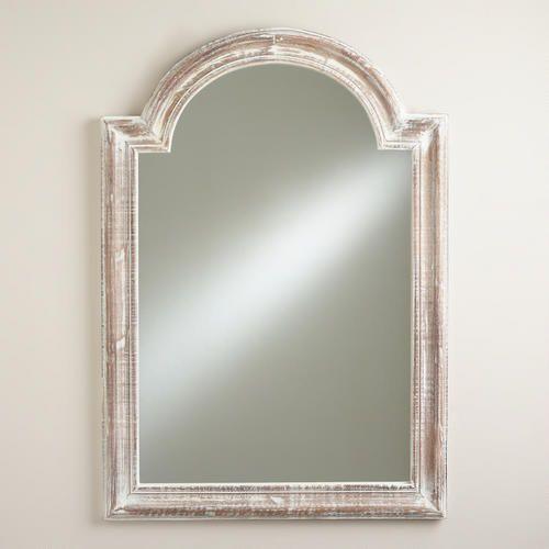White moroccan aida mirror for Floor vanity mirror