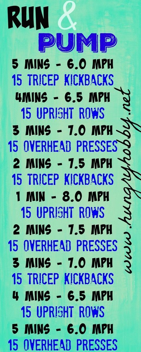 This workout has pyramid style intervals with upper body strength moves in between so you can get your run and pump on at the same time!