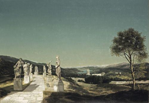 Landschap met zeven beelden - Carel Willink