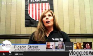 Picabo Street Google+ Hangout on Air Video • vlogg.com