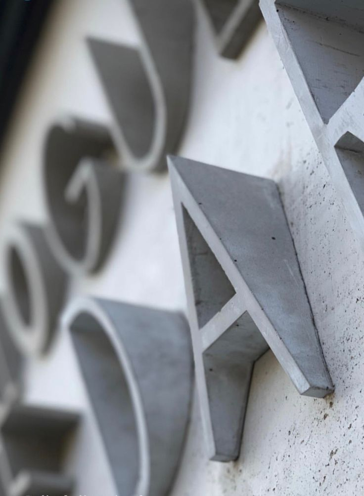 Debossed letters for outdoor signage – #concrete #…