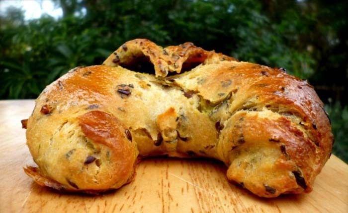 cesnakové croissanty