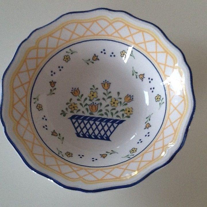 Dessert/suppeskåler - diamter 17 cm – Sango Country French servise