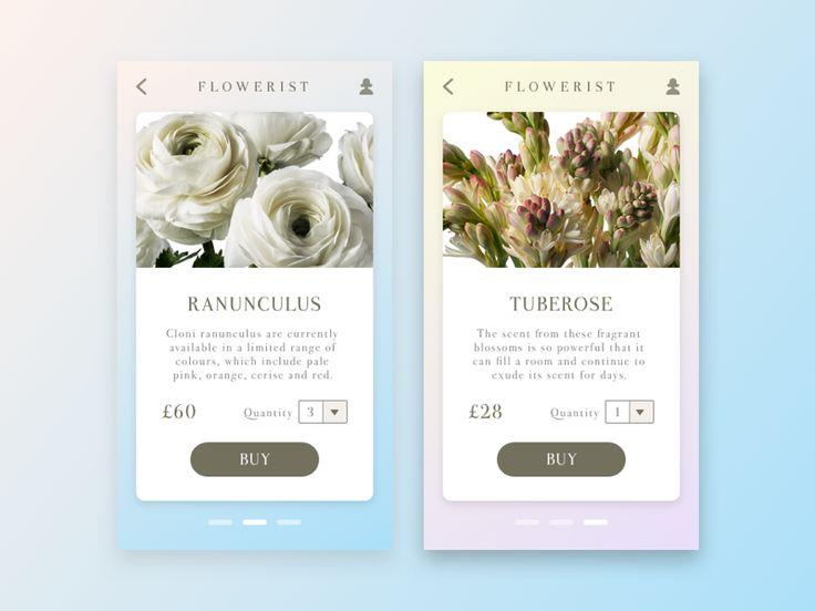 Flowerist App by Dani Perez