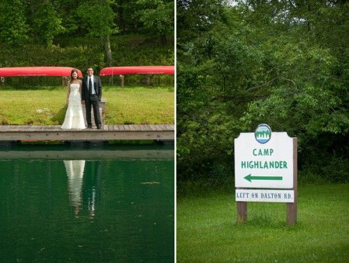 CAMP HIGHLANDER!  Summer Camp Wedding Ideas - Great for a wedding or other camp themed event