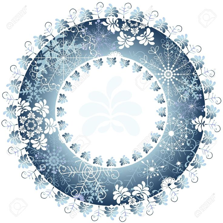 Christmas Blue Round Frame On White Background Royalty Free Cliparts, Vectors, And Stock Illustration. Image 10837741.