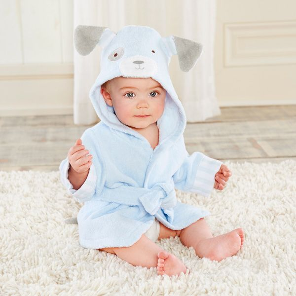 Bathtime Bow Wow Puppy Hooded Spa Robe from Baby Aspen (Personalization Available)