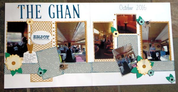 The Ghan Scrapbook Layout