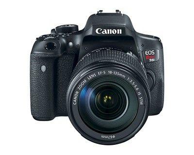 Canon Eos Rebel T6i EF-S 18-135mm IS Stm Kit Bundle, Black