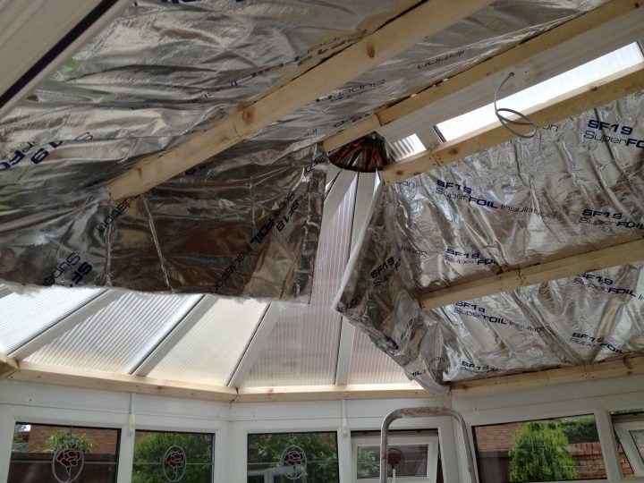 How Do I Plasterboard And Insulate My Conservatory Roof Page 1 Homes Gardens And Diy P Conservatory Roof Conservatory Roof Insulation Roof Insulation