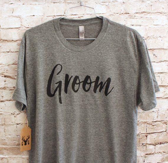 Groom Shirt  Wedding Shirts  Wedding Gift  Bridal by GNARLYGRAIL