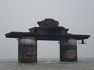 This includes Sealand:  The Maunsell Forts were small fortified towers built in the Thames and Mersey estuaries during the Second World War to help defend the Unite...  http://en.wikipedia.org/wiki/Maunsell_Forts
