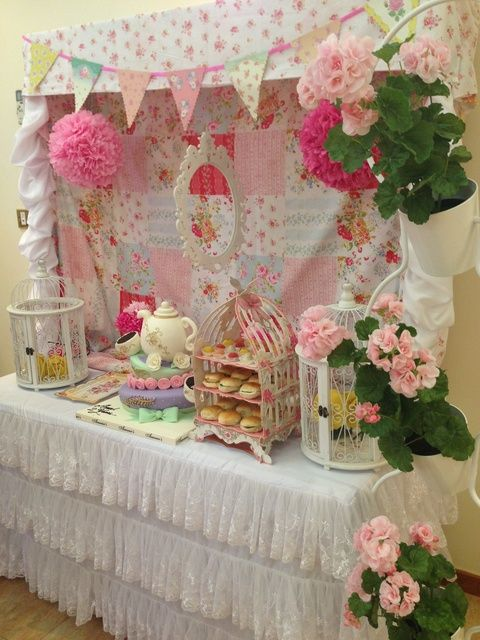 English afternoon tea birthday party ideas for Afternoon tea decoration ideas