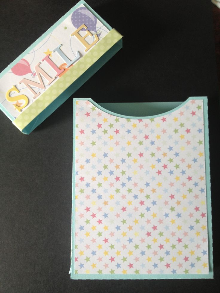 SMILE a box made for either boy or girl. great fo little treats. made with silhouette cameo designer edition.