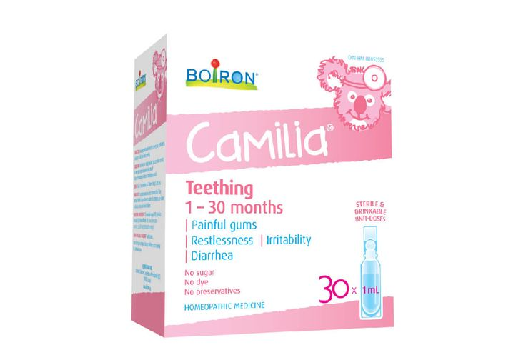 Boiron –Camilia Teething Remedy is Joyous Health Approved!  This homeopathic remedy contains plant medicines, including chamomile, and has been a staple in my cupboard since my daughter started getting teeth. I would recommend it to any parent with teething babes.
