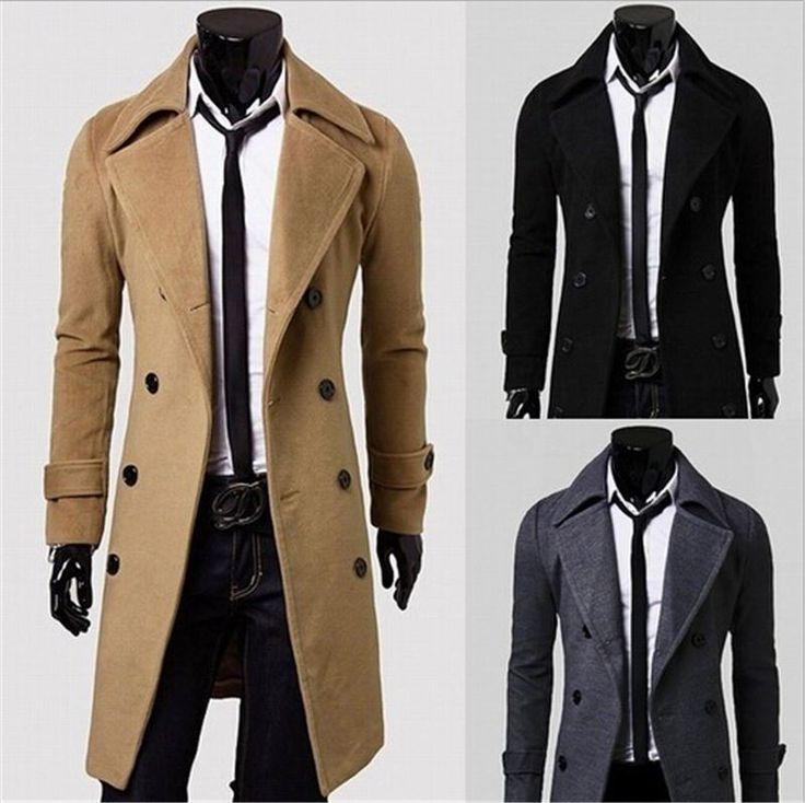 walson Men Winter Jacket Fashion Mens Winter Trench Coats Overcoats Duffle Coat