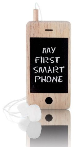 I-Woody My First Smartphone Mobile Phone With Chalkboard Screen from Sarah J Home Decor...$24.95