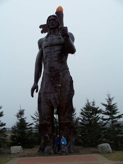 The Legendary Glooscap at the Glooscap Heritage Centre & Mi'kmaw Museum. - Nova Scotia