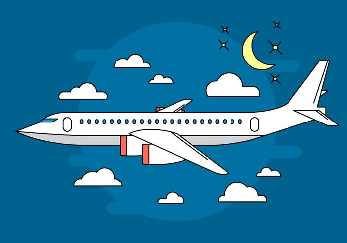 Airplane Vector Illustration - Download Free Vector Art, Stock ...