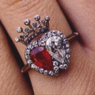 Royal jewels #heart ring #royalty