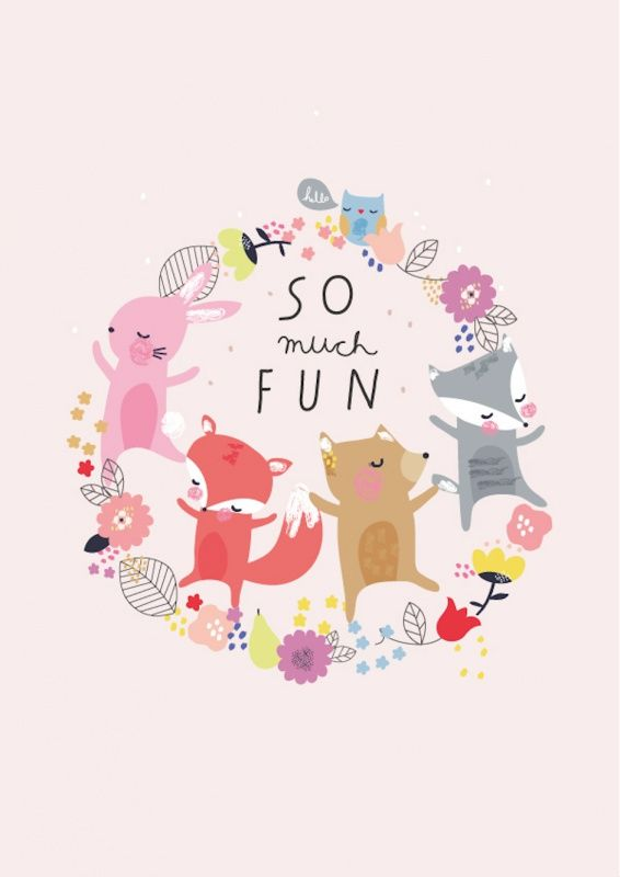 Aless Baylis 'A3 Poster So Much Fun'   Alle posters   Petite Louise