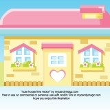 cute house free vector by mycandymagz.com created original by me, inspiring by girl games | my candymagz