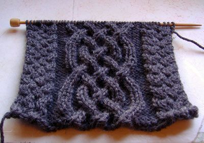 Celtic Cabled scarf ~ notes from Redshirt Knitting website but if you click through alson on ravelry.com